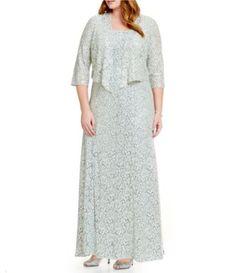 b61d9a2f65a     Alex Evenings Plus Floral-Print A-Line Jacket Dress