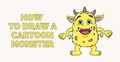 Learn How to Draw a Cartoon Monster: Easy Step-by-Step Drawing Tutorial for Kids and Beginners. #drawing #tutorial #monster See the full tutorial at https://easydrawingguides.com/how-to-draw-a-cartoon-monster/.