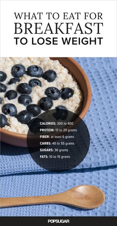 What to Eat For Breakfast to Lose Weight | POPSUGAR Fitness