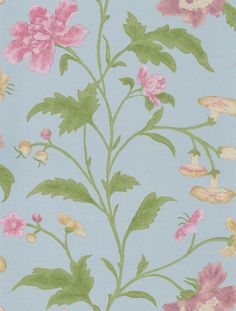China Rose China Blue wallpaper by Little Greene