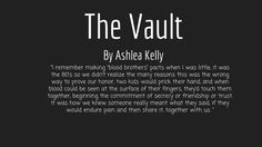 "What it means to me when something goes in ""The Vault"" . . ."