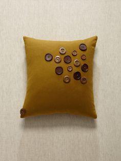button pillow!!