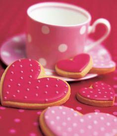 Cute Pink Heart Shaped Cookies