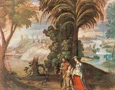 """""""Retorno de Egipto"""" (1680) , basado en un grabado con la composición de Pedro Pablo Rubens"""