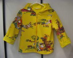 Kierrätyskankainen takki, Puput 92cm