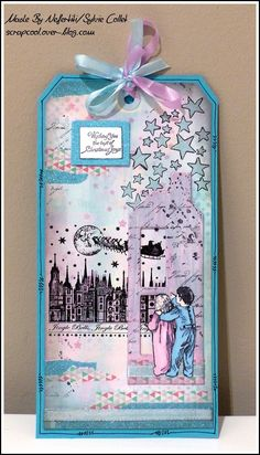 Tag for Hochanda show with Crafty Individuals Stamps
