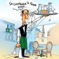 """Chaunu on Instagram: """"Mon dessin du jour dans @ouestfrance et @unionardennais #restaurant #deconfinement #actualités #dessindepresse"""""""