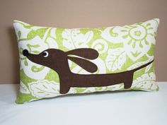 pillow. Cute idea for Brett's sister and her wiener!