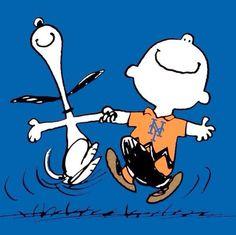 Mets Snoopy and Charlie Brown