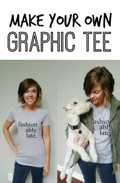 Best DIY Projects: Make Your Own Graphic Tee. Learn how!