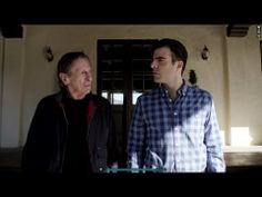 Perfection. Past Spock and current Spock  Leonard Nimoy and Zachary Quinto do a commercial together.