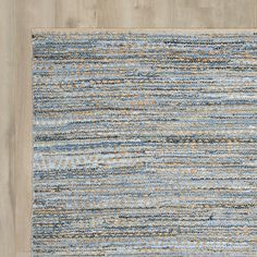 Beachcrest Home Palm Coast Hand-Woven Natural/Blue Area Rug & Reviews…