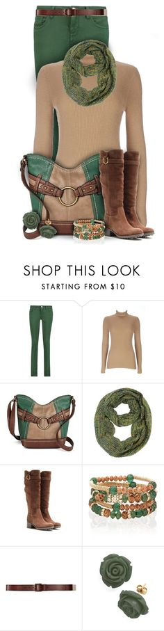 """""""Tan, Green and Brown Outfit"""" by superstylist ❤ liked on Polyvore featuring M Missoni, Wallis, Bølo, Salvatore Ferragamo, White House Black Market, Hollister Co., Retrò, women's clothing, women and female"""