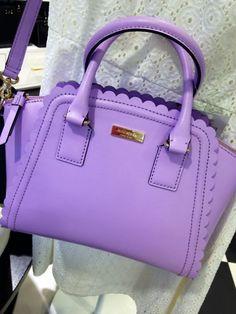 kate spade lavender scallop purse