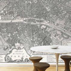 mural map of paris