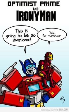 Optimist Prime and Irony Man