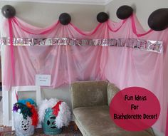 Sharing my ideas for cute, classy bachelorette decorations.