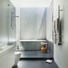 Black Large Tiles for Awesome Bathroom Design