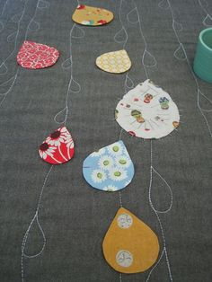 sew katie did's raindrop quilt. love.  @Cara Thompson - eeek! this would be so cute in your colors!