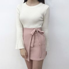 Self-Tie Side Strap Mini Skirt | mixxmix | Shop Korean fashion casual style clothing, bag, shoes, acc and jewelry for all