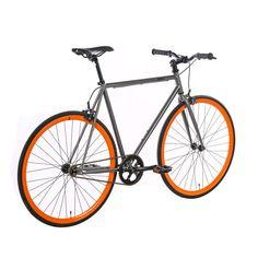 Barcelona Singlespeed/Fixed Bike - 30 mm Deep V Felgen Das Barcelona von 6KU ist ein Singlespeed/Fixed Komplettbike, welches durch die hippe Farbkombination orange - silber ein echter Eyecatcher ist. Die hauseigenen...