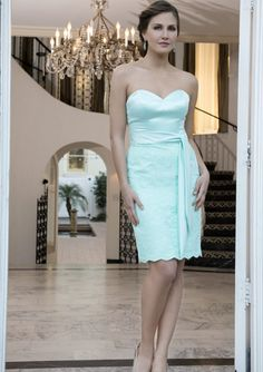 Cheap and Australia Sheath Sweetheart Neckline Lace  amp  Satin Knee Length  2016 Bridesmaid Dresses from ebec6780a649