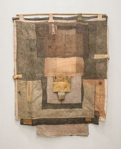 "Fabric Art: ""apotropaic cloth I"" ~ irini gonou. Magnolia Pearl, Textile Fiber Art, Textile Artists, Bear Art, Yohji Yamamoto, Fabric Art, Cotton Fabric, Monuments, Neutral Colors"