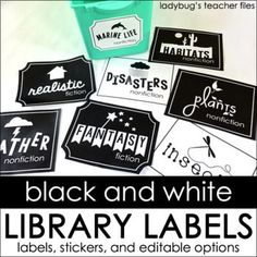 Library Labels: Library labels that are editable to organize your classroom library collection—featuring a 21st century look your students will love!