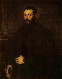 Retrato de Nicolás Padavinus de 1589 - Tintoretto