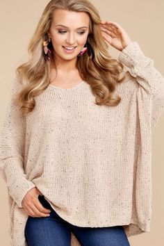 d620341e21c 7 Content With Love Beige Sweater at reddressboutique.com New Today