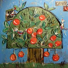 Orange tree. Acrylic on canvass
