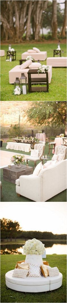 outdoor Wedding Reception Lounge Areas Ideas #wedding #weddingideas #weddingdecor