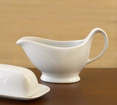 For applesauce and latkes.....Great White Gravy Boat #potterybarn