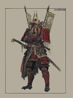 ArtStation - The Shogunate Character Design, Dan Cha Fantasy Samurai, Samurai Concept, Armor Concept, Fantasy Warrior, Fantasy Art, Concept Art, Kabuto Samurai, Ronin Samurai, Samurai Warrior