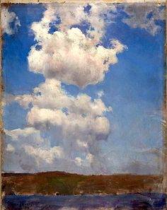 Järnefelt, Eero (1863 Vyborg - 1937 Helsinki) painter and Finnish teacher ; Cloud Study, 1893