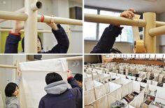Emergency shelter partitions for Japan by shigeru ban architects.