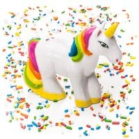 Unicorn Sprinkle Shaker By Spinning Hat  on Yellow Octopus