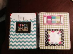 Erin Condren Life Planner  front page pocket and dashboard