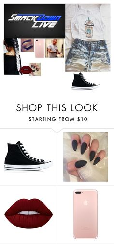 """""""Backstage at Smackdown with Randy"""" by riley-497 ❤ liked on Polyvore featuring Converse, WWE and Lime Crime"""