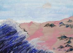 Ione Citrin - Pink Sand Beach - 30 x 22 - Watercolor