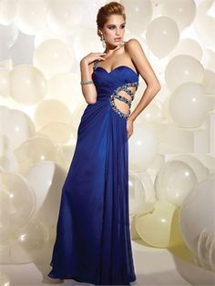 Long One Shoulder Sweetheart with Beadings Cut Out Back Prom Dress PD11159 www.dresseshouse.co.uk $96.0000