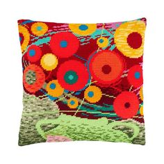 """Needlepoint//Tapestry Pillow Cover DIY Kit /""""Navigation/"""""""