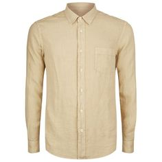 120% Lino Long Sleeve Linen Shirt ($170) ❤ liked on Polyvore featuring men's fashion, men's clothing, men's shirts, men's casual shirts, mens summer shirts, mens linen shirts, mens longsleeve shirts and mens long sleeve shirts