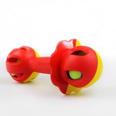 Bioserie baby rattle. Performs like plastic but is actually 100% bio-based