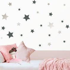 Estrellas de vinilo infantil en 25 COLORES A ELEGIR. Estrellas de vinilo para la pared de la habitación infantil y del bebé.