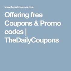 15 best free coupon codes the daily coupons images on pinterest offering free coupons promo codes thedailycoupons fandeluxe Image collections