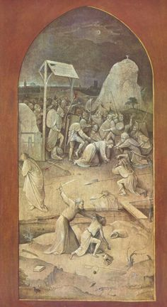 Triptych of Temptation of St Anthony, Hieronymus Bosch Size: cm Medium: oil, panel Hieronymus Bosch Paintings, San Antonio Abad, Temptation Of St Anthony, Free Art Prints, Oil Painting Reproductions, Medieval Art, Old Art, Les Oeuvres, Renaissance