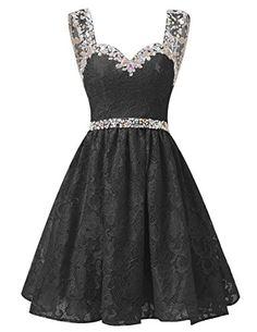 Dresstells® Short Chiffon Strapless Prom Dress With B…