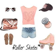 Nueva moda sana: Roller Skates Cool Outfits, Casual Outfits, Summer Outfits, Skate Party, Roller Skating, Outdoor Outfit, Kawaii Fashion, All About Fashion, Jeans