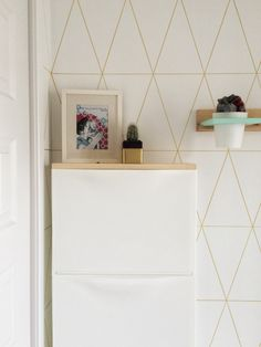 15 a simple IKEA Trones hack with a light-colored wooden tabletop makes up a floating console table - DigsDigs Trones Ikea Hack, Ikea Hacks, Ikea Entryway, White Table Top, Small Space Interior Design, Shoe Storage Cabinet, Painting Cabinets, Diy On A Budget, Home Organization